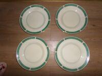 Rare Vintage Art Deco Ribstone Ware plates x 4