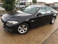 2012 BMW 5 Series 2.0 520d EfficientDynamics Black Diesel Low Mileage 1 Year MOT Leather Interior