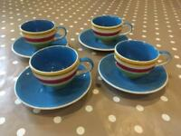 Set of 4 Whittard Espresso Cups, BRAND NEW