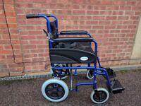 Wheelchair for sale. It's barely used and it's in a good condition