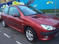 Peugeot 206 1.4 3-dr 12 Months MOT, service history MOT £575