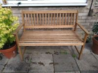 2 seater woodeb garden, patio, decking bench