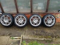 Genuine Original Audi RS4 Alloy wheels with good Tyres 18 inch set of 4