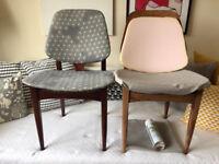 Two Elliotts of Newbury EON dining chairs Mid Century Modern Danish Elliott's