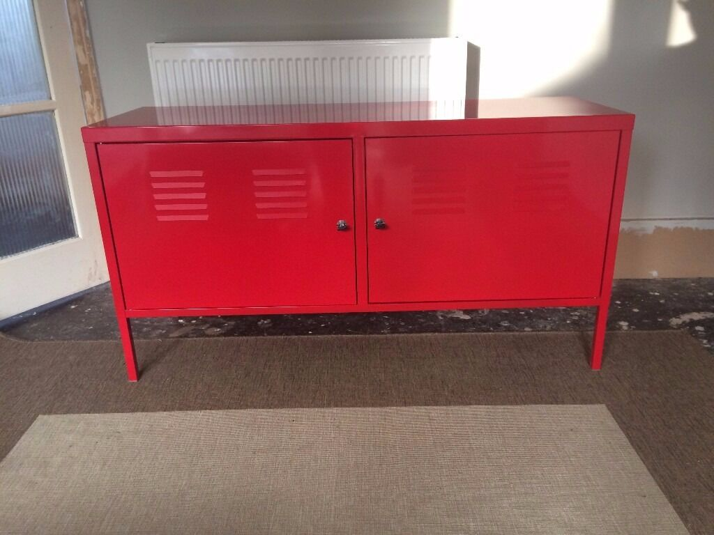 Ikea ps red metal cabinet locker 35 in brighton east for Metal lockers ikea