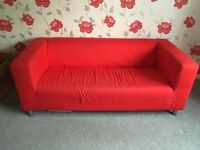 Red Ikea Sofa - FOC until the 23rd!