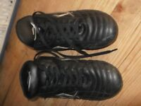 FOOTBALL BOOTS with studs size 6