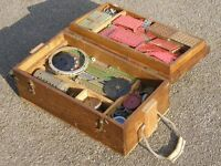 Vintage Meccano set, very large, circa 1948 with instruction books, all in WWII ammunition box
