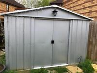 Large metal shed 10ft x 8ft