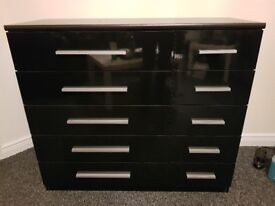 Black chest of drawers 5&5