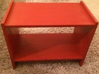 Small red TV / Turntable Record Player / Stereo stand/table