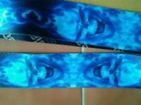 Blue skull guitar strap Soldier strap co