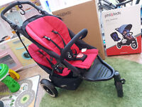 Phil and Ted Dot Double Buggy, Doubles Kit, Raincover, Sleeping Bag, Boxed