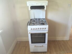 SLIMLINE FLAVEL GAS COOKER WITH EYE LEVEL GRILL