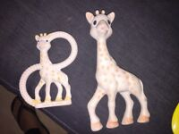 Selection of baby / kids toys. Sophie the giraffe, vtech, leap frog etc