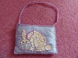 SMALL GIRLS SEQUIN RABBIT PURSE BAG £2
