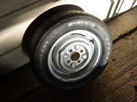 Ford Escort, Cortina, Anglia 13 inch Steel Wheel and New 185 60 x 13 Tyre