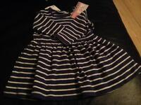 Blue dress size 0-1 month