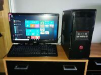 Desk top PC, Monitor and Keyboard