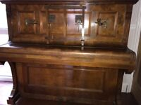 Piano: upright rare Sames piano about 100 years old with superb sound board