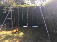Triple swing frame plus Skyboard & Two Swings