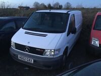 2002 MERCEDES VITO IN WHITE WELL MAINTAINED BY THE OWNER TWO SIDE LOADING DOORS LONG MOT DRIVES WELL