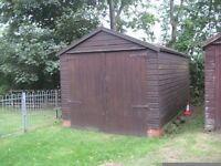Wooden Sectional Garage 18ft by 10ft .Pitched roof . Very good dry condition.Easy to dismantle.