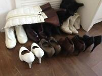8x pairs of boots & shoes size 5 some brand new
