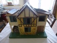 1940s Triang no 76 Dolls House With Furniture - In Need of TLC / Restoration Project