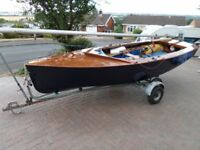 Classic wooden Bell Woodworking built GP14 mk1