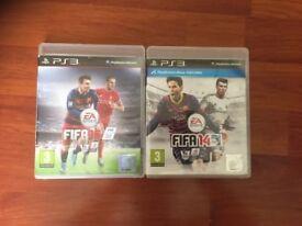 PS3 FIFA 16 and FIFA 14