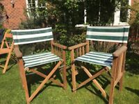 2 x Director's chairs - Excellent condition