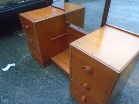 Vintage dressing table with unusual mirror