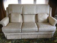 Three piece suite and storage footstool