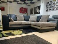 Black and Grey Chord Corner Sofa