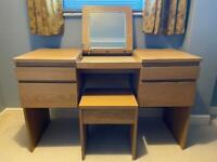 IKEA Malm dresser with matching stool