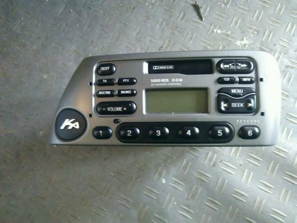 Ford Ka Radio With Code