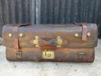 Vintage Leather Suitcase/Trunk