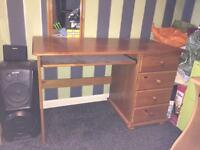 Wood Desk with 4 draws