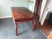 Beautiful Large Dark Heavy Kitchen Dining Table (Good Condition)