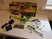 Blade 130X BNF with spares and goblin style canopy, skids etc