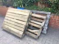 Free three wood pallets