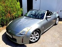 NISSAN 350Z 3.5 V6 CONVERTIBLE AUTOMATIC GREY EXCELLENT CONDITION LEATHER