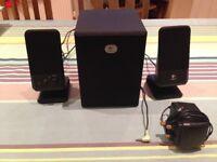 Desktop speakers with bass