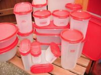 tupperware containers red used quanity 27