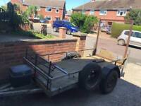 "Heavy duty trailer + ramp 7ft 9"" x 3ft 7"""