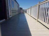 static caravan veranda / balcony/ decking/