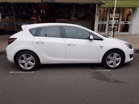 Olympic White Vauxhall Astra 1.7 Diesel Engine Full Service History Leather Interior Sat NAV ECOFLEX