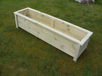 NEW - handmade quality decking garden planter / trough / herb / 122cm (4ft) - heavy duty