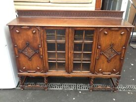 vintage solid oad sideboard